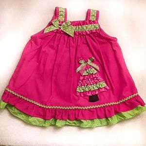 Holiday corduroy girls dress